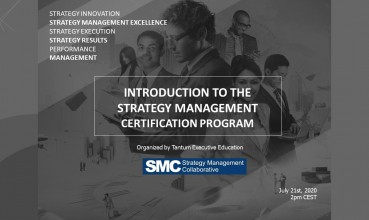 PRESENTING THE SMC STRATEGY MANAGEMENT CERTIFICATION PROGRAM